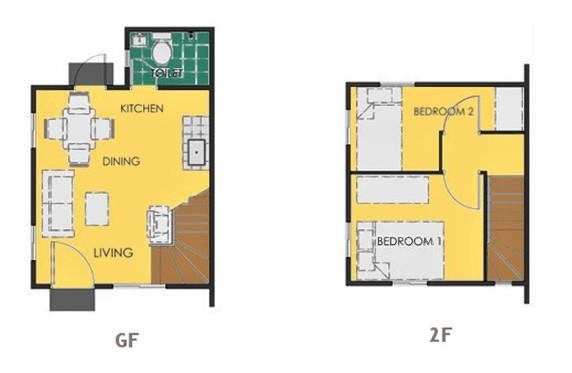 Ravena Floor Plan House and Lot in Bay Laguna