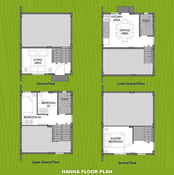 Hanna Floor Plan House and Lot in Bay Laguna