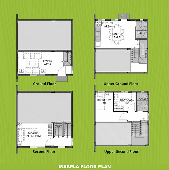 Isabela Floor Plan House and Lot in Bay Laguna