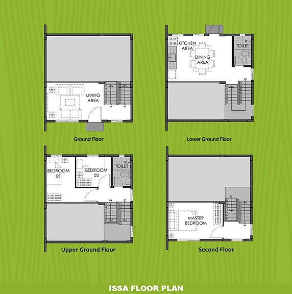 Issa Floor Plan House and Lot in Bay Laguna