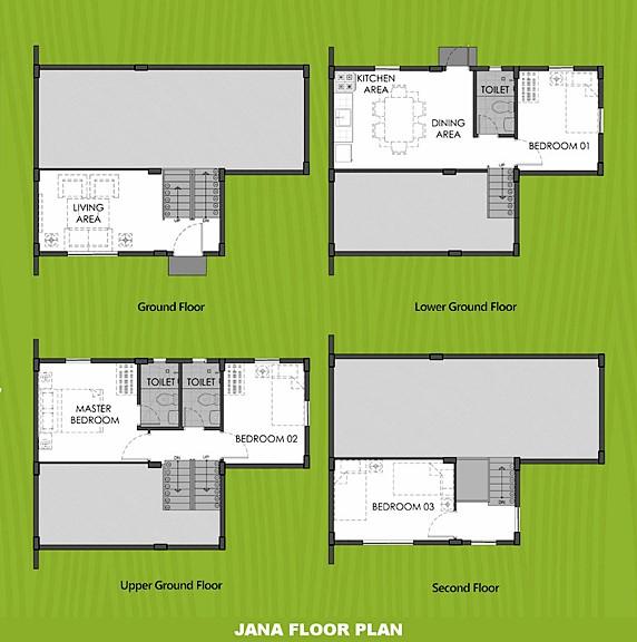 Janna Floor Plan House and Lot in Bay Laguna
