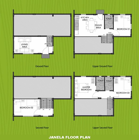 Janela Floor Plan House and Lot in Bay Laguna