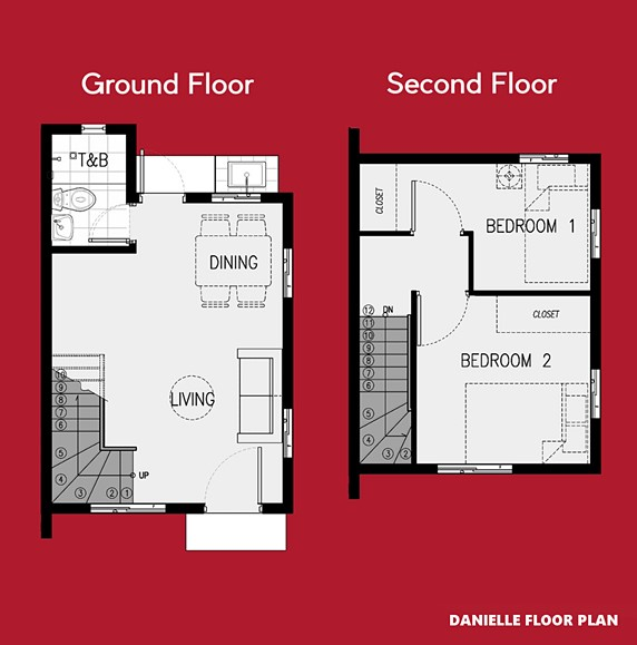 Danielle Floor Plan House and Lot in Bay Laguna