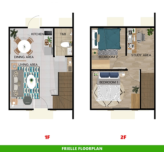 Frielle Floor Plan House and Lot in Bay Laguna
